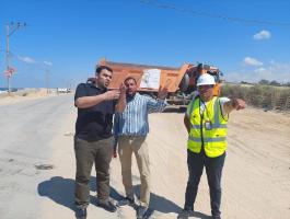 أشغال غزّة تُنفذ لقاءت فنية لتنسيق مشروع إعادة تأهيل شارع