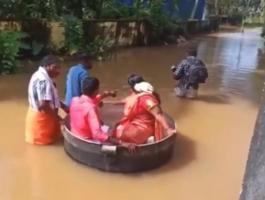 بالفيديو: هنديان ذهبا إلى زفافهما في طنجرة طبخ