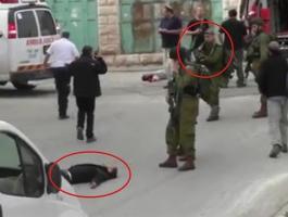 الجندي الذي اطلق النار على شاب لسطين