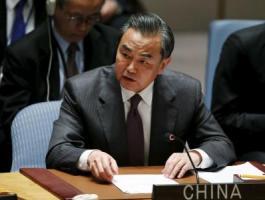 وزير الخارحية الصيني وانغ يى في مجلس الأمن