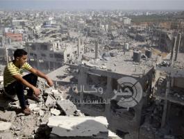 منازل مدمرة في قطاع غزة