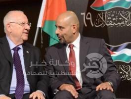 السفير الأردني وليد عبيدات والرئيس الأسرائيلي