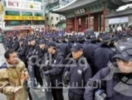 كوريا الجنوبية تشتبك مع محتجين