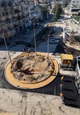 دوار دولة في حي الزيتون