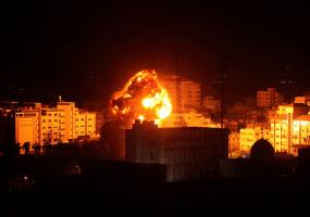 طائرات الاحتلال الحربية تستهدف موقعاً للمقاومة شمال القطاع