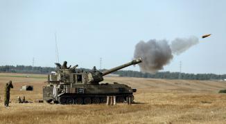 مدفعية الاحتلال تستهدف موقعًا للضبط الميداني شرق منطقة الوسطى.jpg