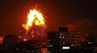 طائرات الاحتلال الحربية تشنّ سلسلة غارات على أهداف مختلف بغزّة