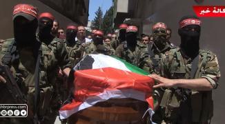 شاهد بالفيديو: جماهير غفيرة تُشيّع جثمان الراحل رباح مهنا في غزّة