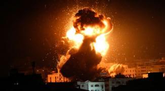طائرات الاحتلال تستهدف موقعاً للمقاومة غرب غزّة