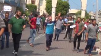 بالفيديو: أصحاب البسطات في غزّة يعتصمون رفضاً لإزالة مصدر رزقهم