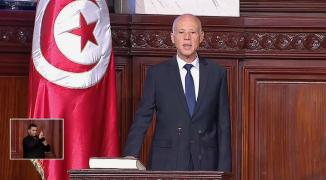 في أول خطاب له.. قيس سعيد: الحق الفلسطيني لن يسقط بالتقادم وفلسطين في وجدان تونس
