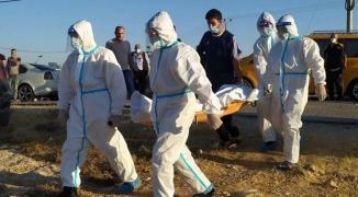 دفن وفاة كورونا في غزة