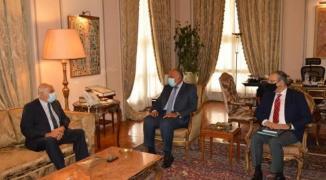 اللواء جبريل الرجوب وسامح شكري في القاهرة