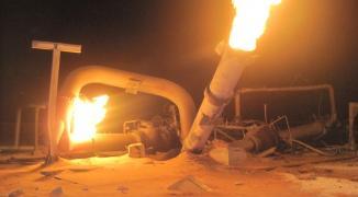 مسلحون يستهدفون أنبوب خط الغاز الرئيسي المغذي لمدينة العريش
