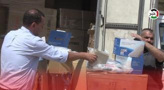 تسليم تنمية غزّة معدات وأجهزة طبية مُقدمة من النائب دحلان