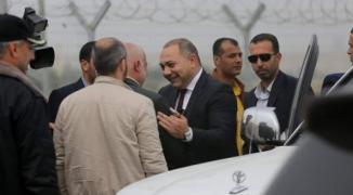 الوفد الامني المصري بغزة