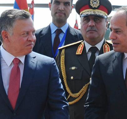 الملك عبد الله والرئيس السيسي