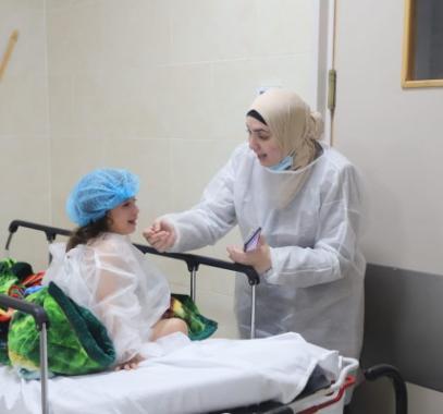 وفد طبي قطري في مشفى القدس يغزة