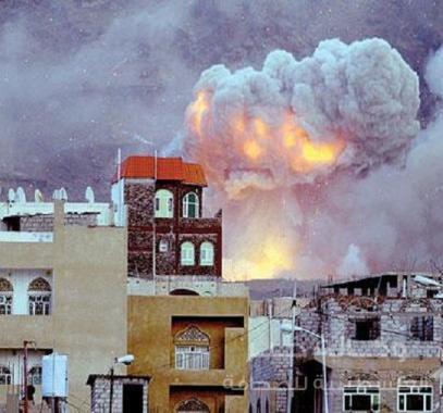 ضربات التحالف في صنعاء
