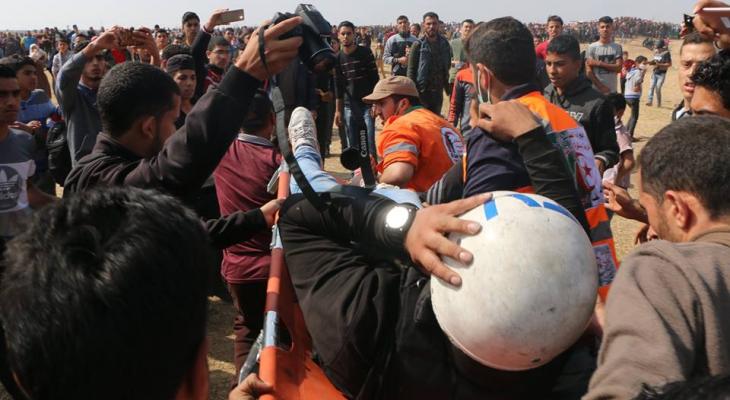 إصابات في صفوف الصحفيين جراء استهداف الاحتلال المباشر للطواقم العاملة في الميدان3.png