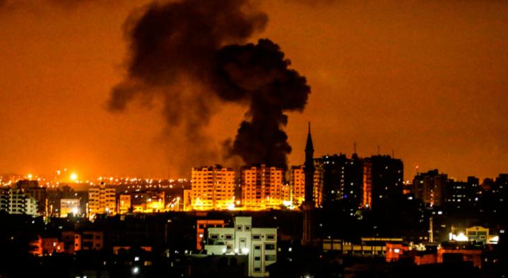 قصف اسرائيلي  على غزة صورة ارشيفية