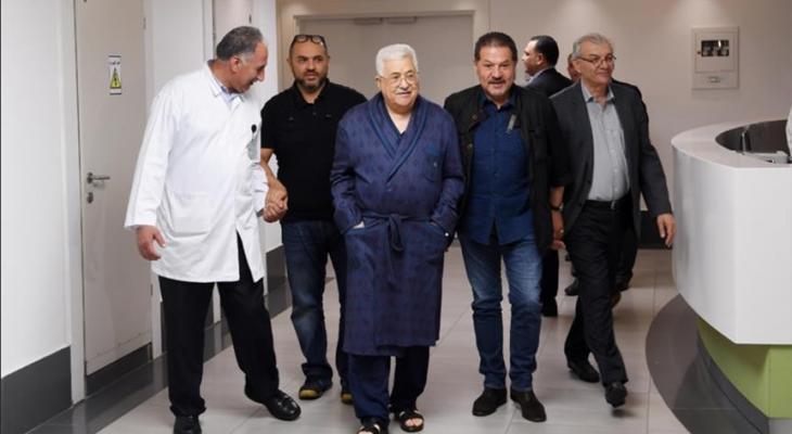 الرئيس عباس يتلقى العلاج