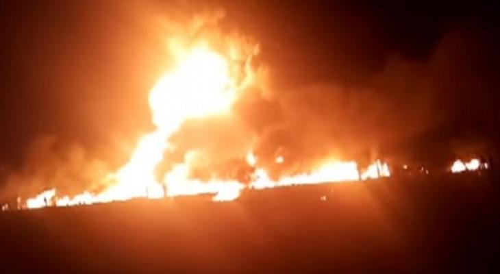 """إصابة """"51"""" شخصًا جراء حريق ضخم بأحد أكبر الأسواق بالقاهرة"""