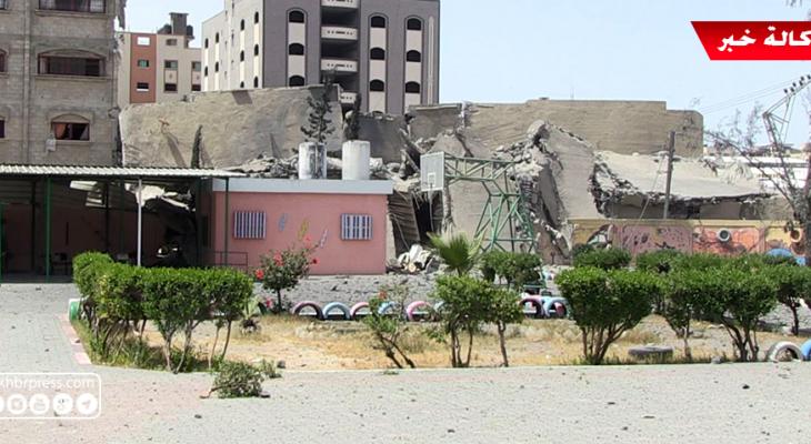 شاهد بالفيديو: دمار هائل بمدرسة أساسية للبنات في غزّة بعد قصف برج القمر