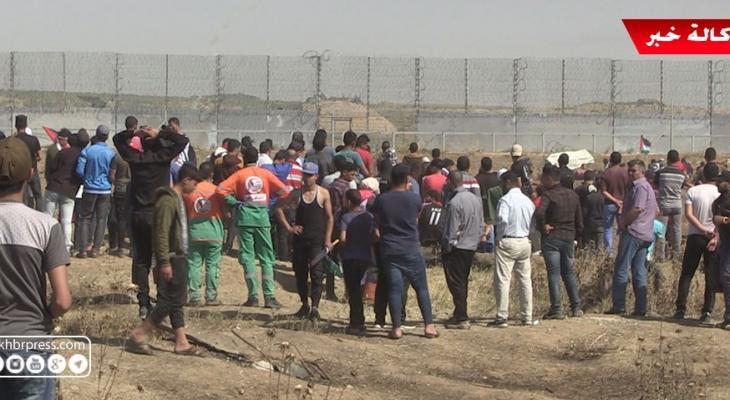 شاهد بالفيديو: الفلسطينيون يُحيون ذكرى النكبة بمسيرات حدودية شرق قطاع غزّة