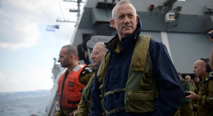 """غانتس: خطة """"صفقة القرن"""" للسلام يجب أنّ تنص على نزع سلاح المقاومة في غزّة"""
