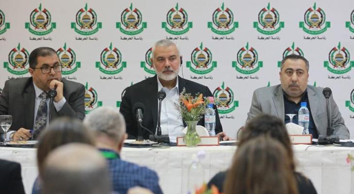 بالصور: هنية يلتقي ممثلي الصحافة الأجنبية في الأراضي الفلسطينية