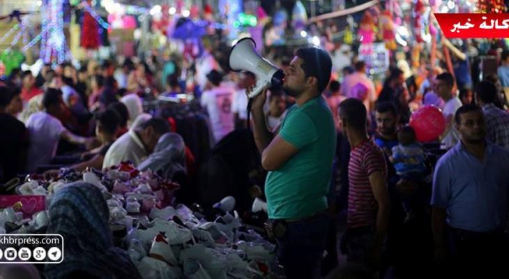 """شاهد بالفيديو: وكالة """"خبر"""" ترصد أجواء عيد الفطر المبارك في أسواق غزّة"""