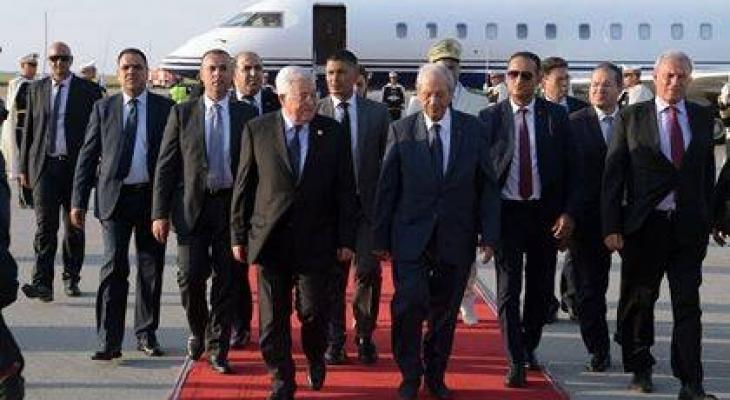 مشاركة الرئيس  عباس في تشييع جثمان الراحل السبسي