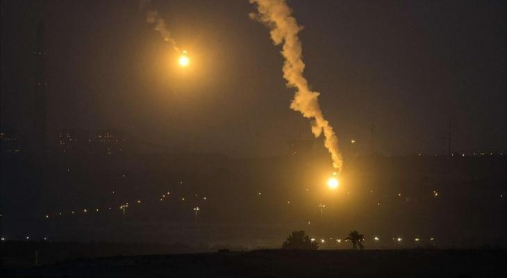 طائرات الاحتلال الحربية تشنّ غارات على أهداف مختلفة في غزّة