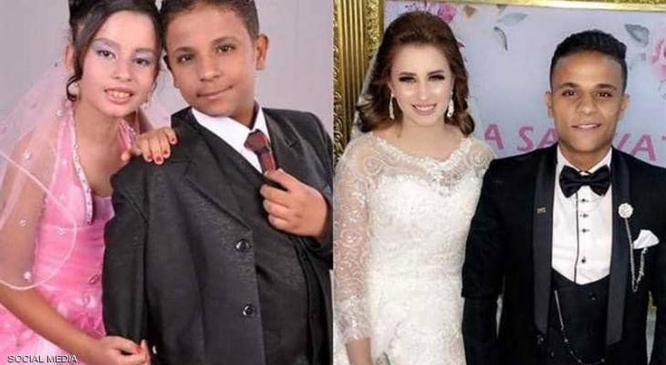 """أصغر عروسين في """"مصر"""" يدخلان القفص الذهبي"""