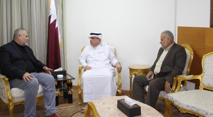 هذا ما بحثه السفير العمادي مع وفد من قيادة حركة الجهاد الإسلامي في غزّة!