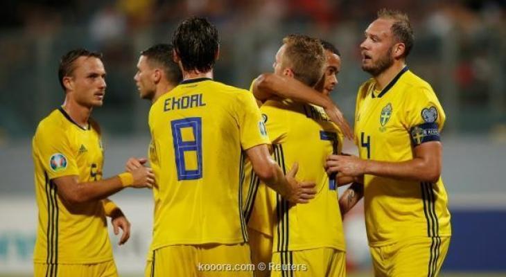السويد تغرق مالطة أربع مرات KaMzr