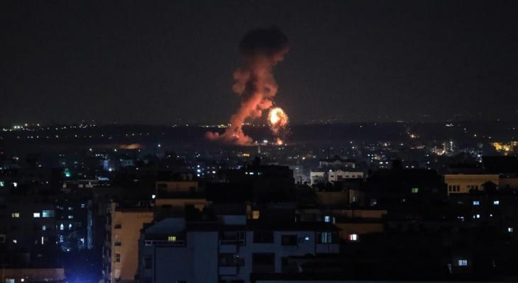 قصف اسرائيلي على قطاع غزّة
