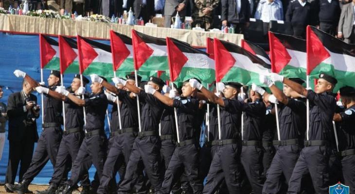 شاهد بالفيديو: مسير للشرطة في رام الله بمناسبة يوم الشرطة العربي