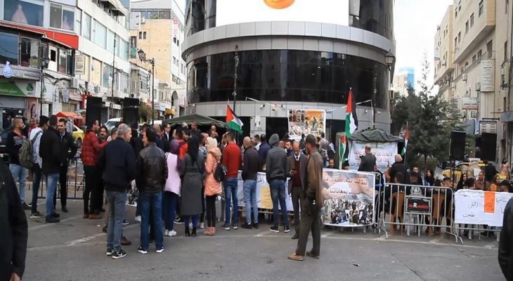 شاهد بالفيديو: خيمة اعتصام جرحى أحداث الانقسام عام 2007 في رام الله
