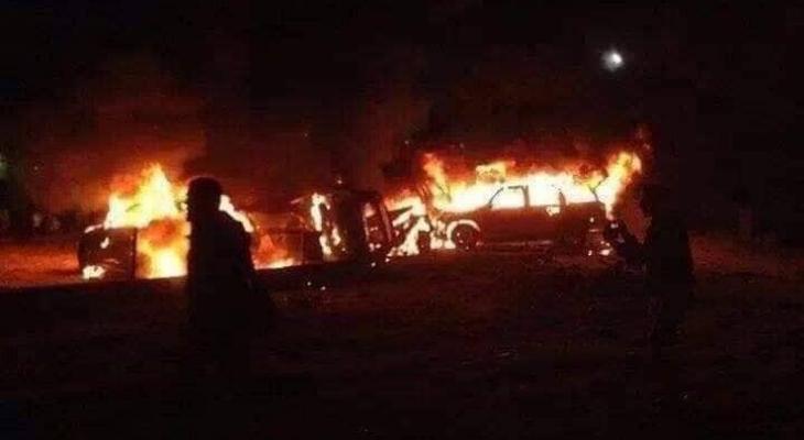 مقتل قيادات في الحشد الشعبي بغارات أمريكية استهدفت سيارتين شمال بغداد