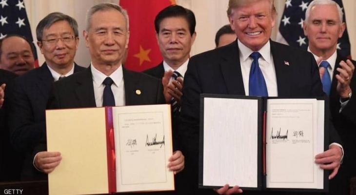 """واشنطن وبكين توقعان """"اتفاق التجارة"""" التاريخي"""
