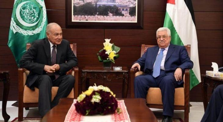 الرئيس عباس وابو الغيط