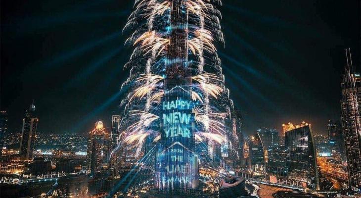 """بالفيديو: عرض """"خرافي"""" احتفالات رأس السنة 2020 في دبي """"برج خليفة """"وجميع الدول حول العالم"""