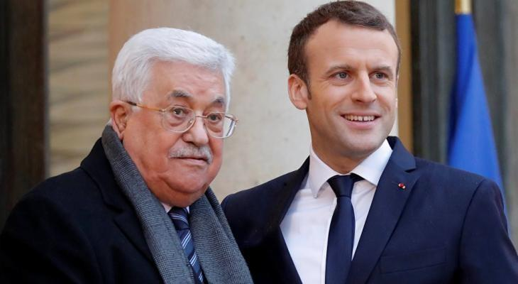 الرئيس عباس وماكرون
