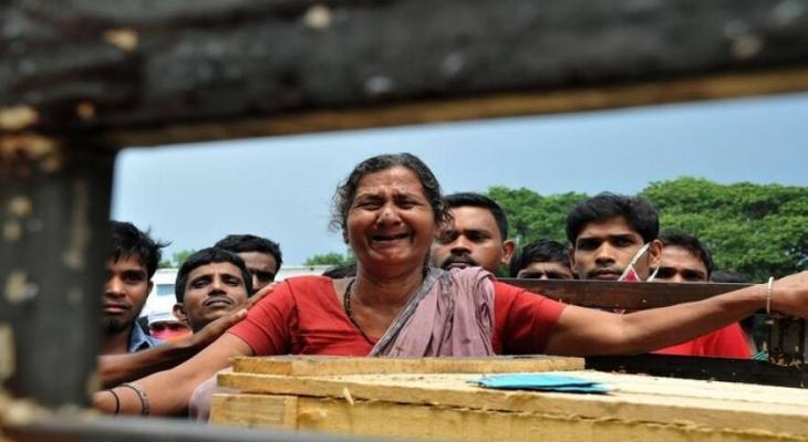 """الهند: أمراة تعود إلى """"الحياة"""" أثناء التحضير لدفنها"""