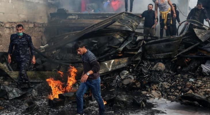 صورة: وفاة مواطن متأثرًا باصابته في حريق النصيرات