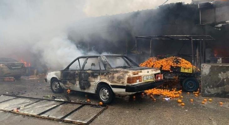 بالفيديو والصور: عشرات الإصابات إثر انفجار وحريق هائل في مخيم النصيرات وسط القطاع