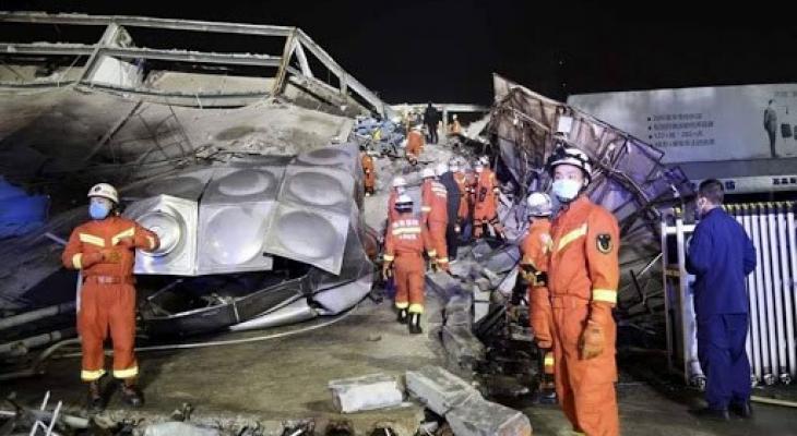 انهيار أحد الفنادق الصينية المستخدمة للحجر الصحي للمصابين بفيروس كورونا