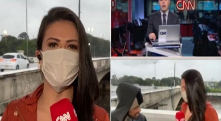 شاهدوا: مراسلة تليفزيونية تتعرض للسطو المسلح على الهواء